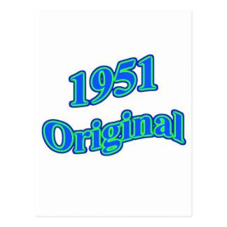 1951元の青緑 葉書き