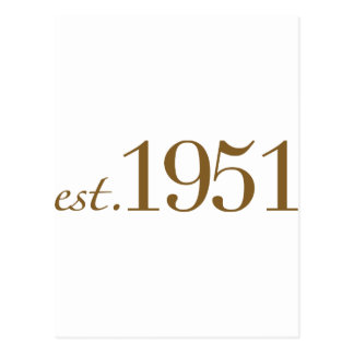 1951年に生まれて下さい(第60誕生日) ポストカード