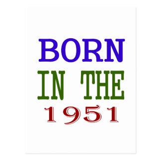 1951年に生まれて下さい 葉書き