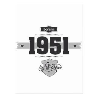 1951年に生まれて下さい(Dark&Lightgrey) ポストカード