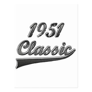 1951年のクラシック はがき