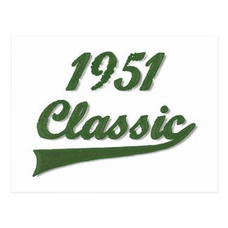 1951年のクラシック ポストカード