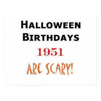 1951年のハロウィンの誕生日 葉書き
