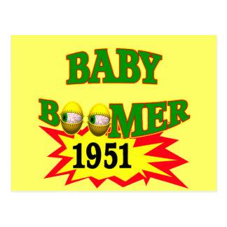 1951年のベビーブーマー はがき