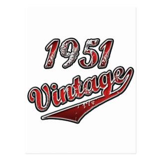 1951年のヴィンテージ ポストカード