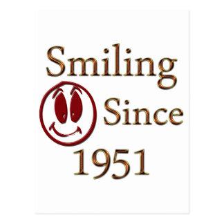 1951年以来の微笑 はがき