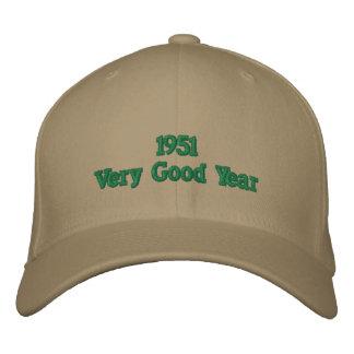 1951非常によい年によって刺繍される帽子 刺繍入りキャップ