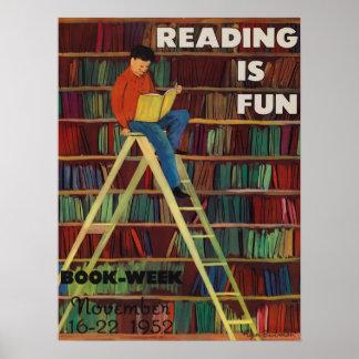 1952人の児童読書週間ポスター ポスター