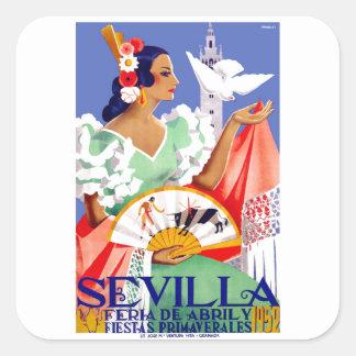 1952年のセヴィルスペイン4月の公平なポスター スクエアシール