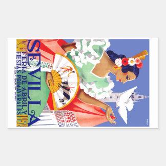 1952年のセヴィルスペイン4月の公平なポスター 長方形シール