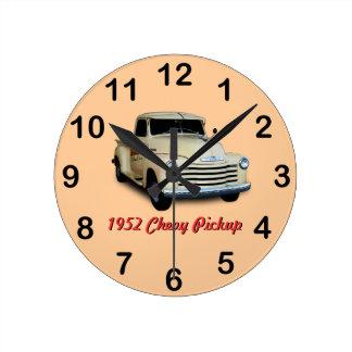 1952年のChevyの積み込み ラウンド壁時計