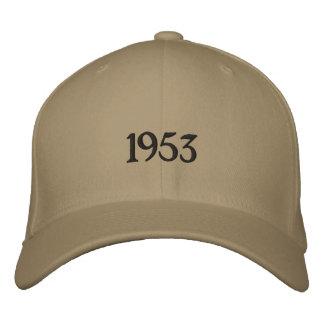 1953年のカスタムな野球帽 刺繍入りキャップ