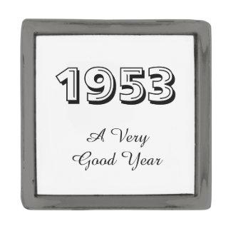 1953年非常によい年のラペルピン ガンメタル ラペルピン