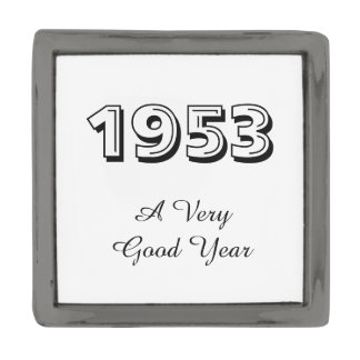 1953 A Very Good Year Lapel Pin ガンメタルラペルピン