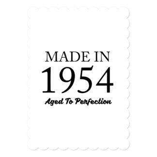 1954年に作られる 12.7 X 17.8 インビテーションカード