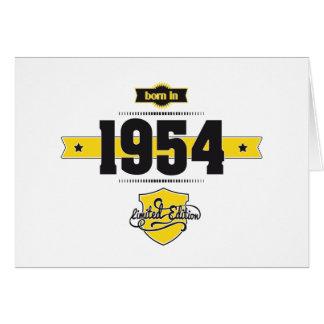 1954年に生まれて下さい(choco&yellow) カード