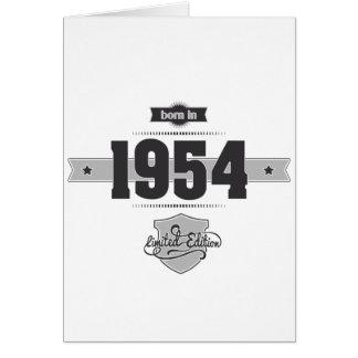 1954年に生まれて下さい(Dark&Lightgrey) カード
