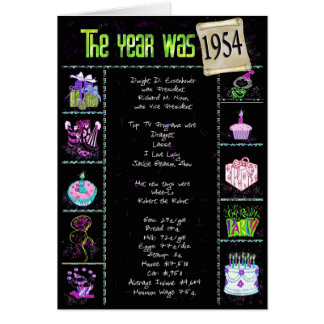 1954年に誕生日 カード