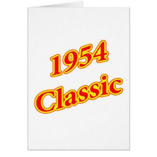 1954年のクラシックな赤 カード