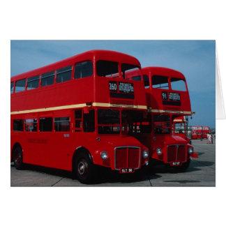 """1954年の元のロンドンの""""""""のRoutemasterの""""""""バス カード"""