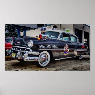1954年のChevy D.A.R.E.のパトカーのマツ丘NJ ポスター