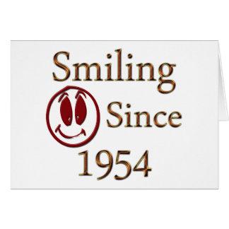1954年以来の微笑 カード