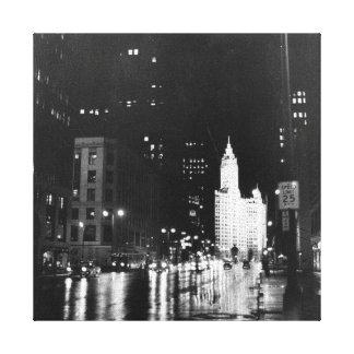 1954年頃:  眺めのミシガン州の道 キャンバスプリント