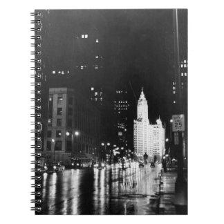 1954年頃:  眺めのミシガン州の道 ノートブック