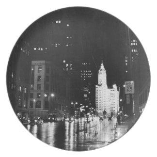 1954年頃:  眺めのミシガン州の道 プレート