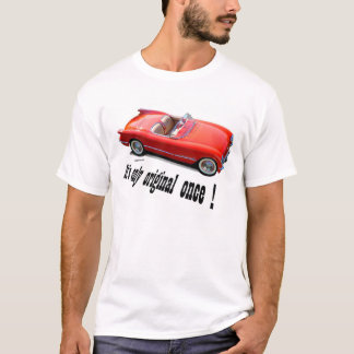 1955年のシボレー・コルベットのコンバーチブル Tシャツ