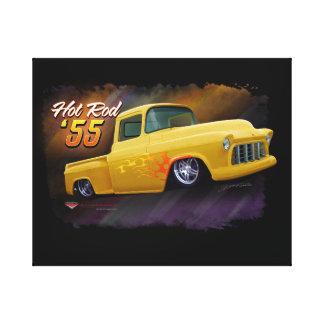 1955年のChevyのトラックのプリント キャンバスプリント