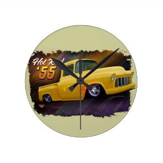 1955年のChevyのトラックの時計 ラウンド壁時計