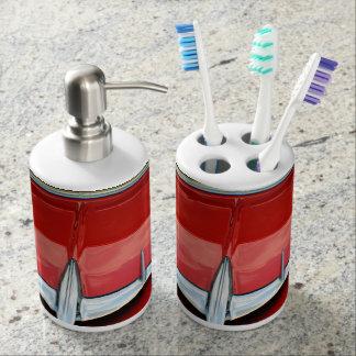 1955年のChevyの歯ブラシおよび石鹸ディスペンサーセット バスセット