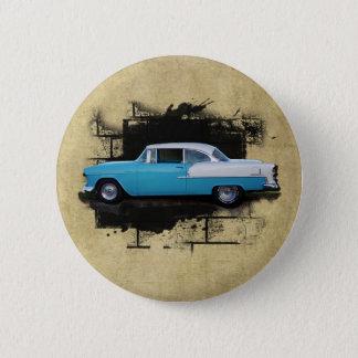 1955年のChevyベルエアクラシックな車ボタン 5.7cm 丸型バッジ