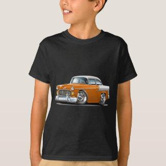 1955年のChevy Belairのオレンジ白の車 Tシャツ