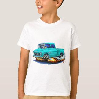 1955年のChevy Stepsideの積み込みのターコイズのトラック Tシャツ