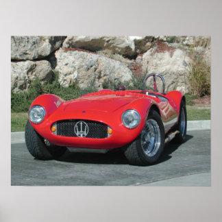 1955年のMaserati A6GC5のロードスター ポスター