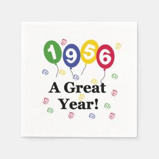 1956年のすばらしい年の誕生日の紙ナプキン スタンダードカクテルナプキン