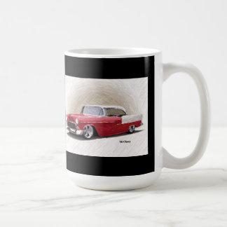 1956年のChevy赤く白いデジタルの芸術のマグ コーヒーマグカップ