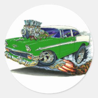 1956年のChevy Belairの緑車 ラウンドシール