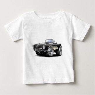 1956-57年のコルベットの黒い車 ベビーTシャツ