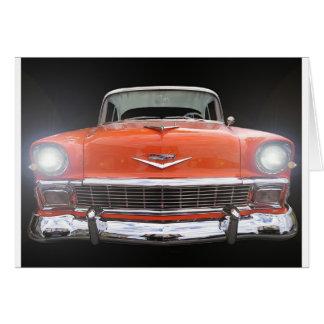 """1956 CHEVY """"ライトの"""" グリーティングカード"""