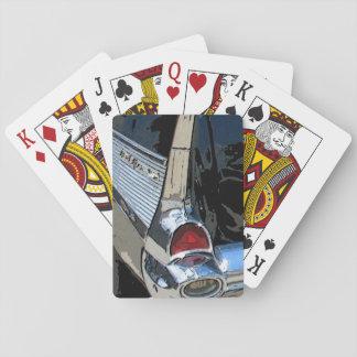 1957年のシボレーの尾軽い遊ぶカード トランプ