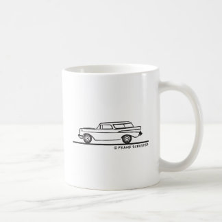 1957年のシボレーの遊牧民 コーヒーマグカップ