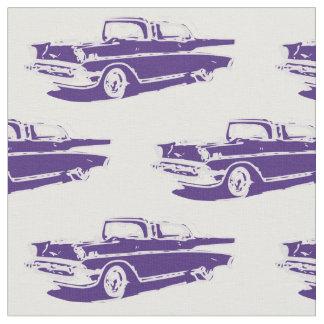 1957年のシボレークラシックな車の生地 ファブリック