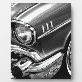 1957年のシボレーBel Airの黒及び白 フォトプラーク