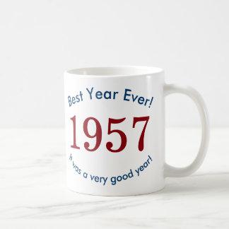 1957年の♥の最も最高のな年! 第60誕生日プレゼントのマグ コーヒーマグカップ