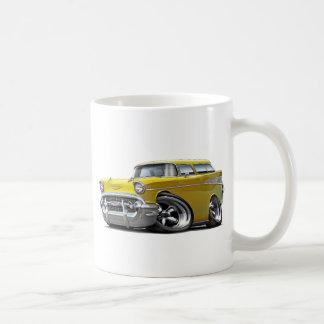 1957年のChevyの遊牧民の黄色は改造しました コーヒーマグカップ