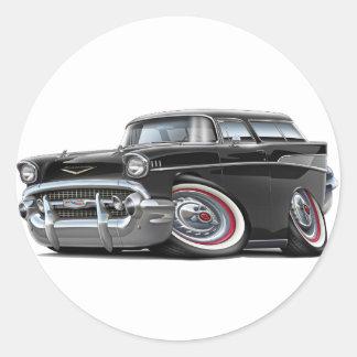 1957年のChevyの遊牧民の黒車 ラウンドシール