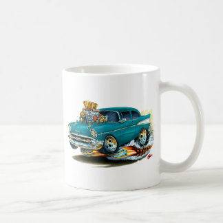 1957年のChevy 150-210のティール(緑がかった色)車 コーヒーマグカップ